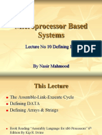 10 Microprocessor Systems  Lecture  No 10 Defining data