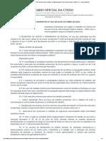 Instrução Normativa Nº 109, 29 de Outubro de 2020