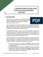 Informe Observatorio Actuar Covid Isoc20 Semana 24 a 30 Octubre 2020
