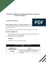 PROPUESTA DE DISE�O E IMPLEMENTACION SG-SST