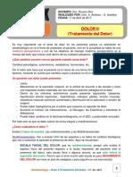 11. Dolor II (Tratamiento del Dolor) 17-04-17
