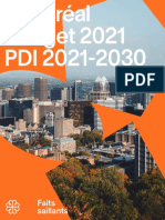 City of Montreal budget for 2021