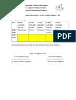 Calendario de Exames Recorrencias 4o Ano_UCM_Farmácia_2020-1