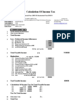 INCOME TAX CALCULATOR AND FORM 16