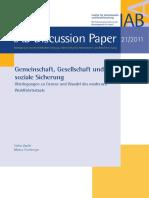 Stefan Zapfel - Gemeinschaft, Gesellschaft Und Soziale Sicherung