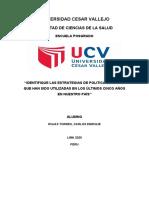 Estrategias de Politicas de Salud en el Peru