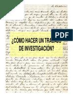 como hacer una investigacion historica