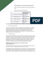 FLUJO DEL PROCESO PRODUCTIVO Y ESCALAS DE PRODUCCIÓN