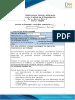 Guia de actividades y Rúbrica de evaluación - Unidad 3 - Tarea 4 - Reacciones Químicas (1)