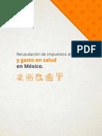 Recaudación de los impuestos al tabaco y gasto en salud en México