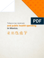 Tobacco tax revenues and public health spending in México