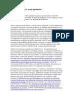 Desmatamento e a nova pandemia
