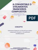 DEUDA CONVERTIBLE O INSTRUMENTOS FINANCIEROS COMPUESTOS