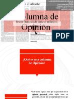 PPT III - La Columna de Opinión.