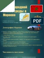Анализ международной бизнес среды  в Мароко