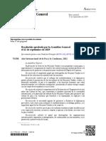 Declaración 2021 como año internacional de la Paz y la Confianza