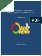 Síntese do Relatório e Parecer Prévio Contas Governo 2010