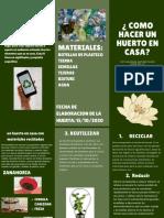 Verde Íconos Modernos Universidad Tríptico Folleto (1)