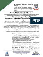 EXPERT 2020 - MÓD IV - AULA 64 - Pneumatologia I - O Batismo com o Espírito Santo e com Fogo