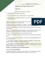Reglamento financiero de la Filial La Habana, año 2018
