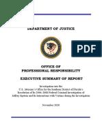 DOJ Summary of Epstein NPA review