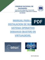 Manual para instalar DEBIAN10 envirtual Box6