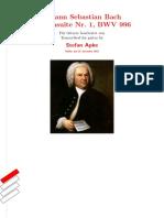 Bach Lute Suite no. 1 BWV 996