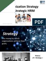 Chapter 1-Organizational strategy  Strategic HRM - Part 1