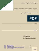 Chapitre 10  Intégrale de surface-Théorèmes intégraux