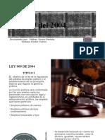 Resumen Ley 909 del 2004