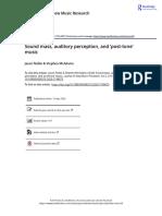 Sound mass auditory perception and post tone music(1)