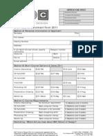 2011 Short Course Enrolment form