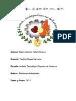 Tarea2_Las relaciones industriales y la estructura organizacional