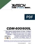 Buku Modul Panduan Modem Comtech EF Data CDM-600-600L
