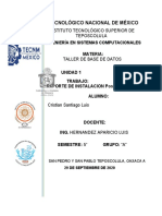 REPORTE DE INSTALACION PostgreSQL