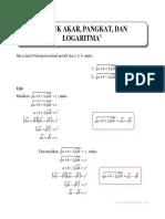 Eksponen dan Logaritma - Menyederhanakan Bentuk akar
