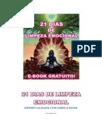 21 DIAS DE LIMPEZA EMOCIONAL