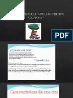 Grupo 4 - ELABORACION DEL APARATO CRITICO
