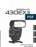 Canon 430EX II Speedlite Flash Owners Manual