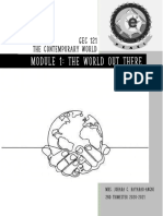 Contemporary World Week 1 Module 1