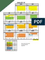 Calendario Academico SENA - 2020