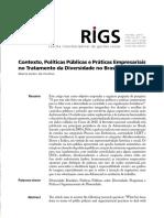 Contexto, Políticas Públicas e Práticas Empresariais