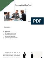rolul comunicarii in afaceri