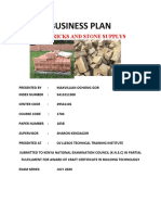 BUSINESS PLAN bricks  and stone supply (Repaired) Max