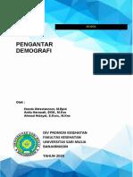 Cover pengantar Demografi