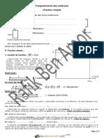 Cours Lycée pilote - Technologie Comportement des matériaux - 2ème Sciences (2014-2015) Mr Rafik Ben Amor.pdf