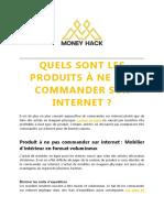 Quels Sont Les Produits à Ne Pas Commander Sur Internet