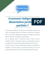 Comment Rédiger Une Dissertation Juridique Parfaite