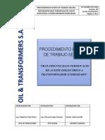 OT-SSOMA-PETS-010 Tratamiento de aceite dielectrico al  transformador energizado