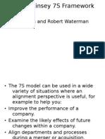 The McKinsey 7S Framework